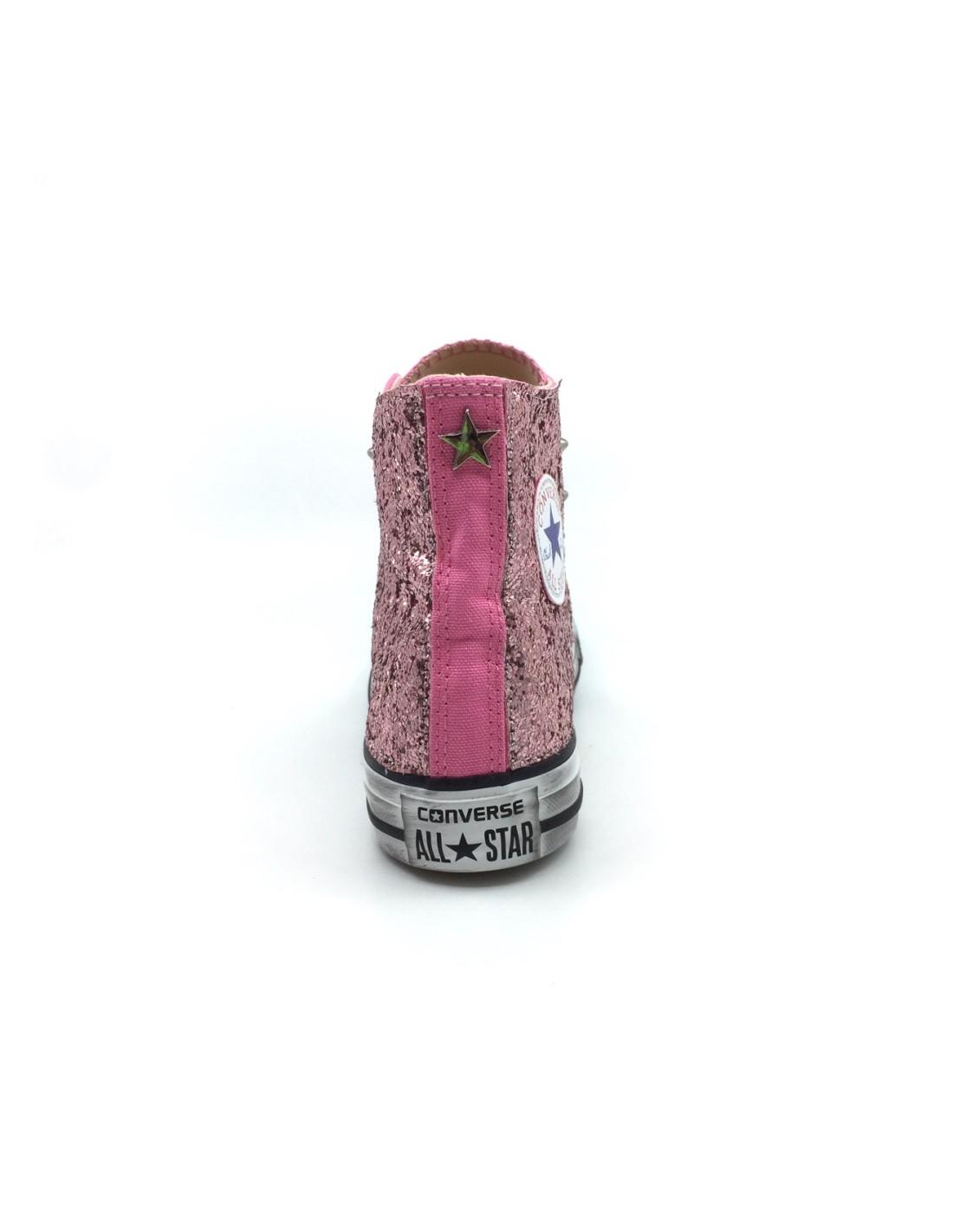 converse rosa glitter