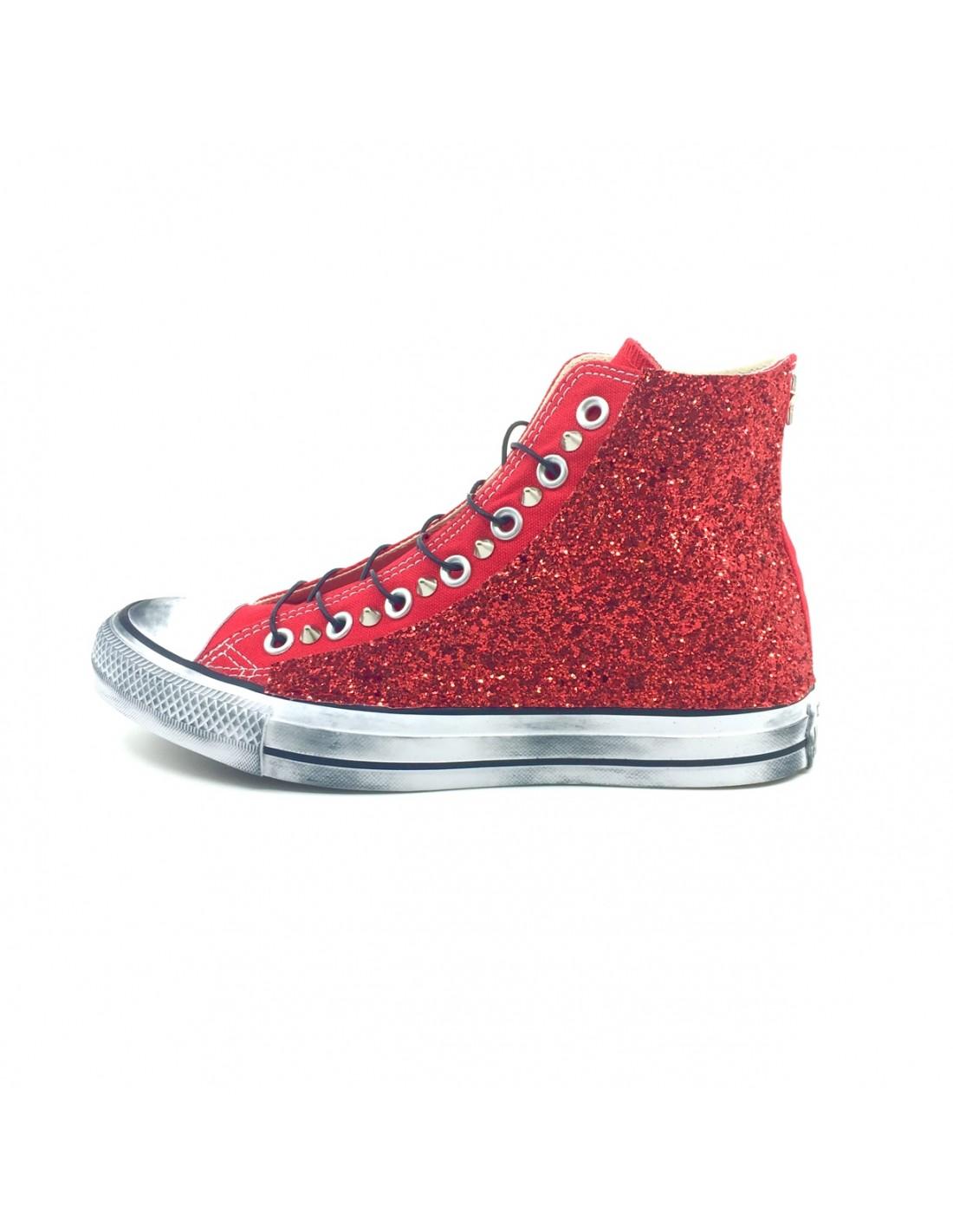 Converse AllStar Rossa Glitter