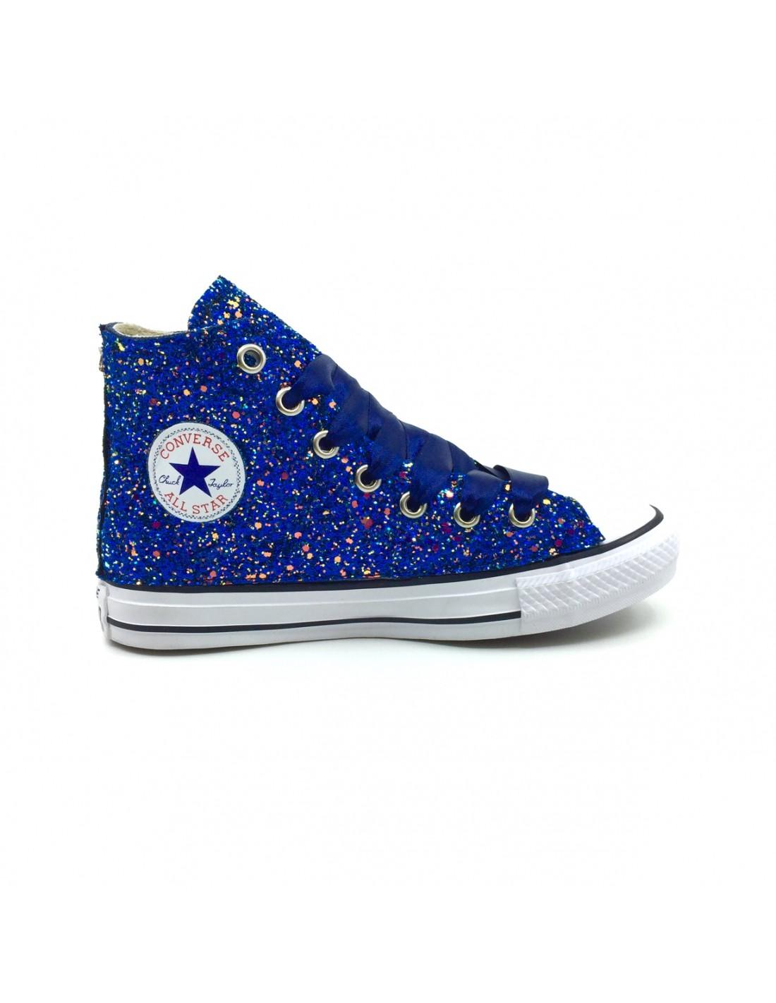 Converse AllStar Blu full Glitter