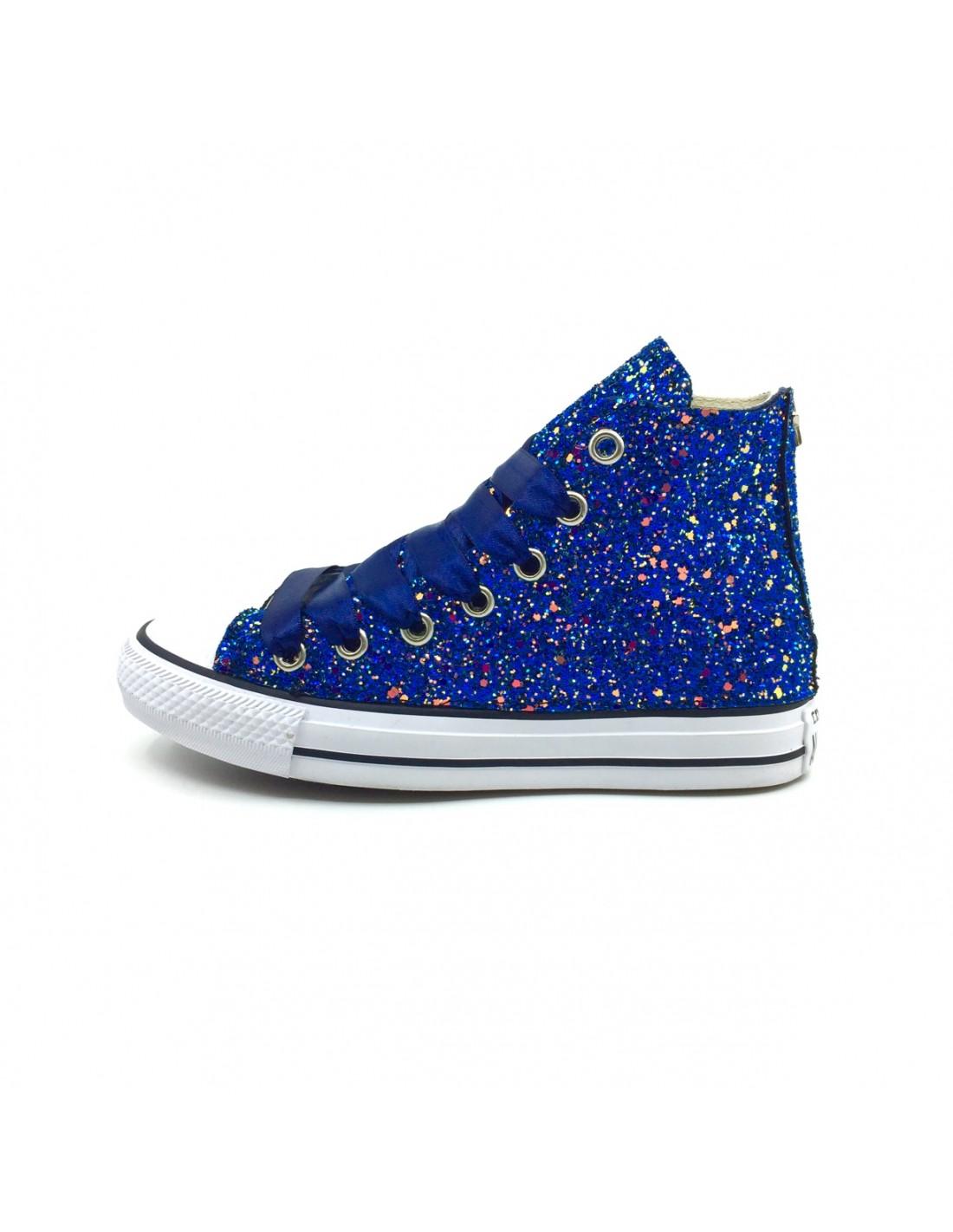 converse glitter blu