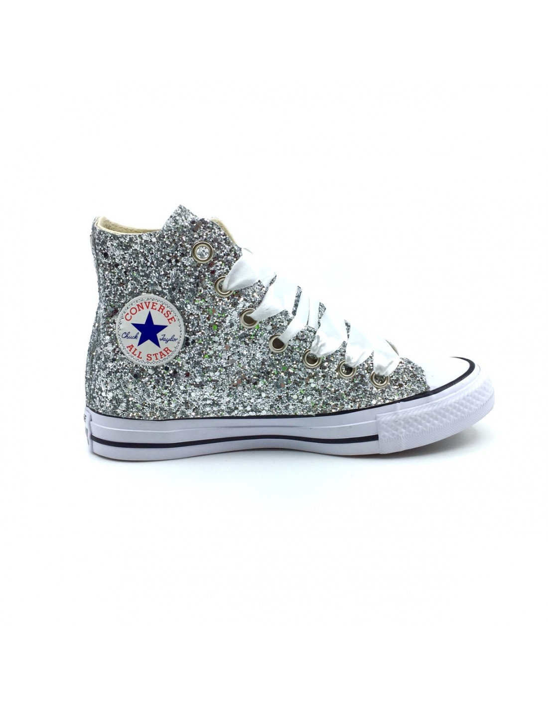 converse all star bianche glitter