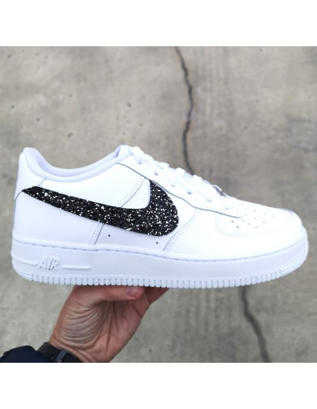 2air force 1 baffo nero