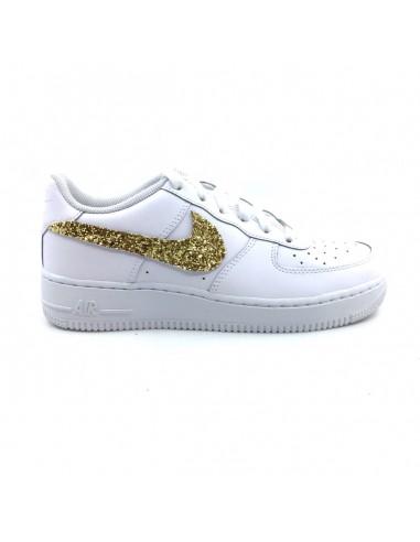 Nike Air Force One AF1 Baffo Glitter Oro