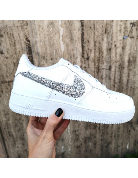 air force 1 donna platform bianche