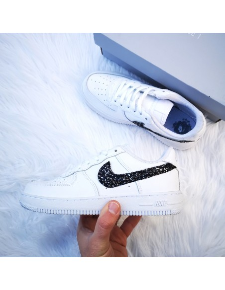air force 1 baffo nero donna